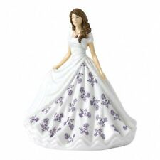 Royal Doulton Birthstone Petites Figurine of the Month - February Amethyst
