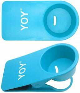Blue Clip On Plastic Cup Holders - set of 2