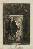 CHODOWIECKI (1726-1801). Hermann überrascht Julchen und den Prinzen Moritz 1