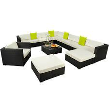 XXL Poly Rattan Alu Sitzgruppe Lounge Rattanmöbel Gartenmöbel Sofa Set Schwarz