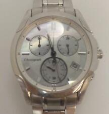 CITIZEN ECODRIVE STAINLESS STEEL MOTHER OF PEARL CHRONOGRAPH WOMENS WRIST WATCH