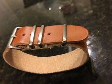 18mm Horween Rio Latigo Leather military style handmade Watch Strap Band