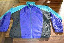New listing VTG Nike White Tag Windbreaker Jacket XL Full Zip Color Block Purple Teal Black