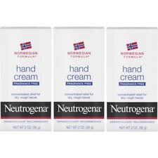 Neutrogena Hand Cream Norwegian Formula Fragrance Free for Chapped Skin 2 Oz 3PK