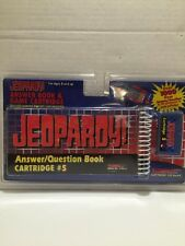 Tiger Electronic Jeopardy Game Cartridge Number 5 And Answer Book New/Sealed