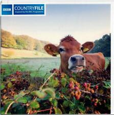 BBC Countryfile - Cow Looking Over A Blackberry Hedge - Blank Greeting Card