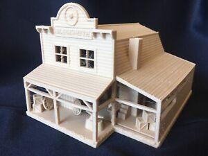Miniature HO Scale1:87 Wood Color Old West #5 Blacksmith Shop Built W/ Interiors