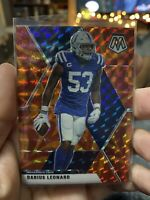 2020 Panini Mosaic DARIUS LEONARD Orange Reactive Prizm Colts #93