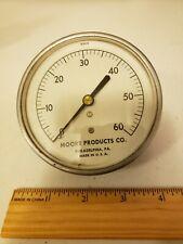 Vintage Moore Products Co Gauge 18969 Steampunk Round Gauge 3 34 0 100psi