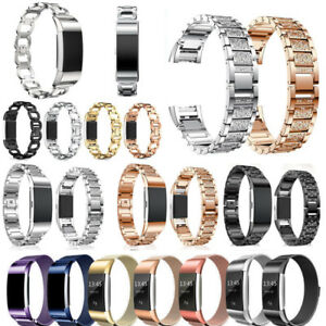 Diamonds/Magnetic Wrist Strap Band Stainless Steel Bracelet for Fitbit Charger 2