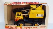 Tonka Mighty Crane Truck 1983 w/ Box Steel Construction Unused Vintage