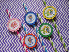 24 Team Umizoomi straws party favors, goodie bag fillers, tableware