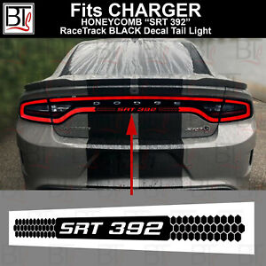 SRT RaceTrack BLACK Rear Tail Light Decal Overlay Honey Comb CHARGER smoke tint