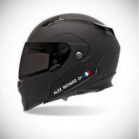Autocollant pour casque de moto sticker Identité - couleur sticker blanc