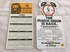 """DISNEY'S """"THE LION KING""""  & """"ABC'S DISNEY CHANNEL MAGNETIC STICKERS -2 TTL -USED"""