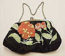 Next Vintage rétro brodé noir soirée-Day Wear Sac avant et arrière Lovely
