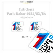 Premier au Rallye Paris Dakar 1981 83 84 BMW Pegatinas rallye adesivi stickers