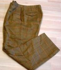 KENNETH GORDON = PLEATED FRONT- 100% WOOL PANTS - SIZE 34 X 31 - SUSPEN BUTTONS