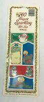 Vintage Christmas Gift Tags Retro Mid Century Glitter Lot Die Cut Package USA