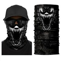 3D Venom Face Shield Sun Mask Fishing Balaclava Neck Gaiter Tube Headwear Scarf