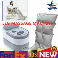 110V Leg Massager Air Compression Leg Wrap Circulation Pressure Therapy Machine