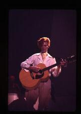 David Bowie playing guitar 1970's Concert original 35mm Ektachrome Transparency