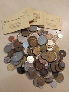 Foreign Coin Collection + Tokens & Commemoratives coins,  1lbs 14oz