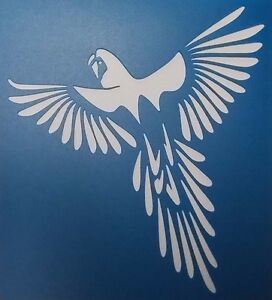 Scrapbooking - STENCILS TEMPLATES MASKS SHEET - Flying Parrot 01 Stencil