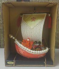 Vintage Japanese Pearl Treasure Ship TAKARABUNE New Years Day Display