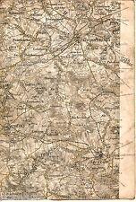 Bischofswerda Neustadt Stolpen 1914 Teilkarte/Ln. Rammenau Putzkau Heeselicht