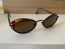 Vintage Giorgio Armani Oval Sunglasses Shades Italy 90s Bella hadid