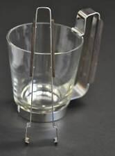 Edler GRASOLI Eisbehälter Eiswürfelbehälter Italy um 1960  mit Zange Glas & Holz