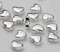30 Tibetan Silver Heart Spacer Bead Charm Jewelry Finding Making Craft 5x6mm DIY