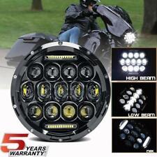 DOT 7 inch Motorcycle LED Headlight Round Halo For Harley Cafe Racer Honda Black