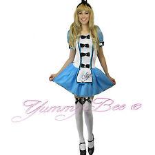 Alice Wonderland Fairytale Fancy Dress Costume Adult Women Plus Size 6-18 SOCKS