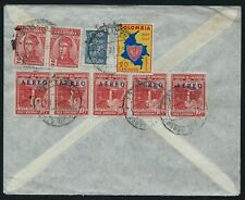 COLOMBIA 1950's Airmail Cover England BANK London South America Overprint CV1089
