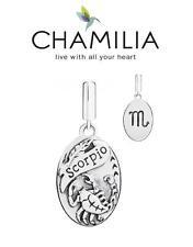 Genuine CHAMILIA 925 sterling silver SCORPIO horoscope dangle charm bead, zodiac