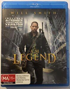 I Am Legend (Blu-Ray) VGC Movie 🍿 Will Smith Action Drama Sci-Fi Apocalypse