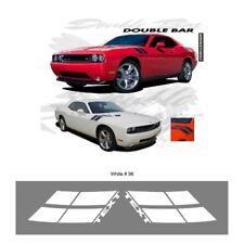 Dodge Challenger RT 2010 up Fender Double Bar Stripes Graphic Kit - Bright White