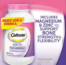 Caltrate 600+D3 Plus Minerals 320 Tablets Exp 2018 - NEW SEALED & SHIP DIRECT
