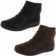 CLARKS Sillian Sway NIB Black or Brown Ankle Bootie M & W Widths FREE SHIP L@@K