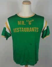 Vtg 50's Rayon Empire Mr G Restaurant Advertisement T Shirt Baseball Jersey L
