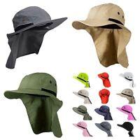 Boonie Snap Hat Brim Ear Neck Cover Cap Sun Flap summer Hiking Garden Bucket