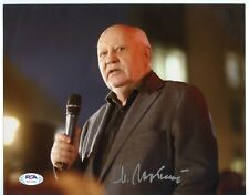 Mikhail Gorbachev Signed 8x10 Photo Autographed AUTO PSA LOA