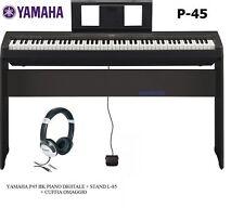 Yamaha P-45b - Pianoforte Digitale include Supporto banco Auricolari (88 Tast