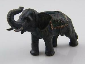 COLD PAINTED BRONZE ELEPHANT PIN CUSHION