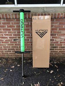 Vurtego V4 Pogo Stick Pro Adjustable Lime Green - USED - Size Medium