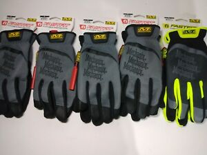 5x Pairs Mechanix Wear FastFit Work Gloves - Large New with Tags