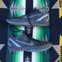 2011 NIKE ZOOM KOBE VI 6 BLACKOUT BLACK DARK GREY WHITE 429659-013 sz 12 Rare 🔥