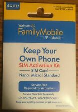 1 Walmart Family Mobile SIM Card Starter Kit (by T-Mobile) NO CONTRACT~